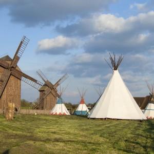 Einmal im Jahr kommen Indianer in das Müller Gehöft