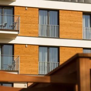 budynek z drewniana prezentacje